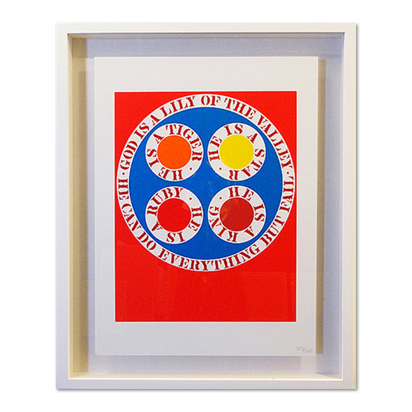 Robert Indiana_God is lily of the valley