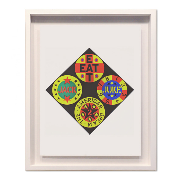 Robert Indiana_The Black Diamond American Dream 2