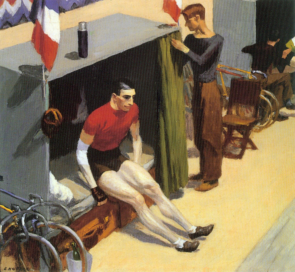 Edward Hopper_French Six-day Bicycle Rider (1937)