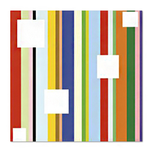 Dan Bleier_White Square on Stripe