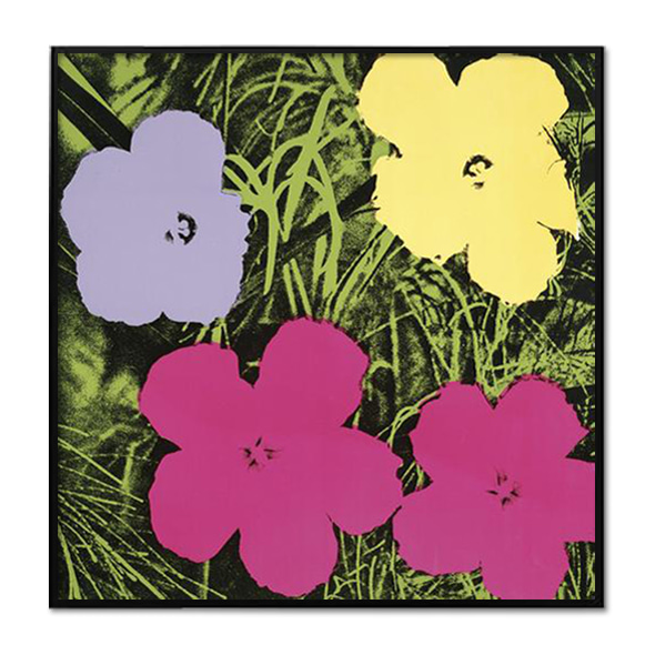 Andy Warhol_FLOWERS, 1970 (1 PURPLE, 1 YELLOW, 2 PINK)