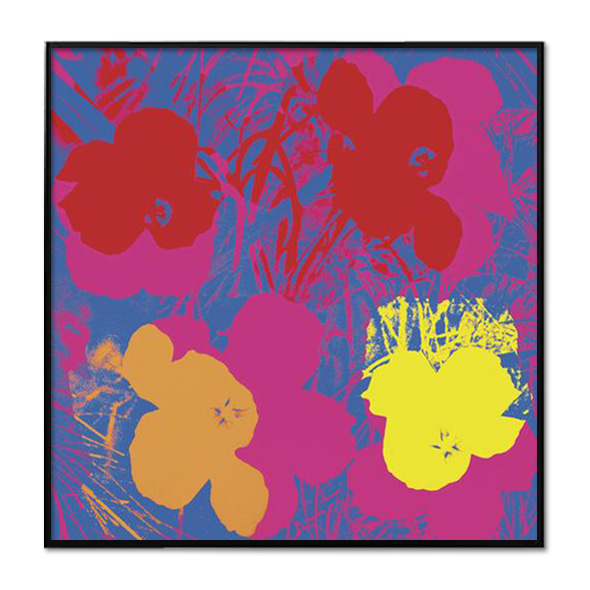 Andy Warhol_FLOWERS, 1970 (RED, YELLOW, ORANGE ON BLUE)