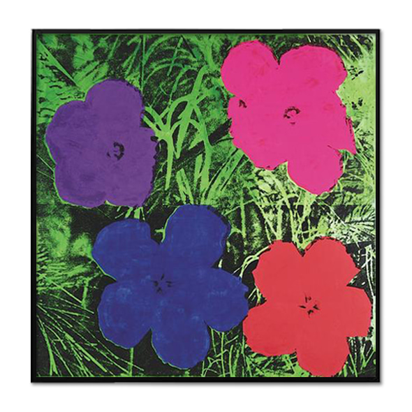 Andy Warhol_FLOWERS, C. 1964 (1 PURPLE, 1 BLUE, 1 PINK, 1 RED)