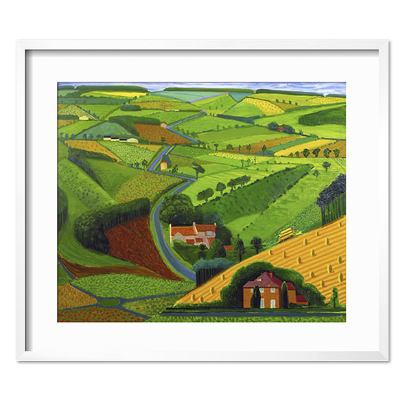 David Hockney_The Road Across the Wolds (1997)