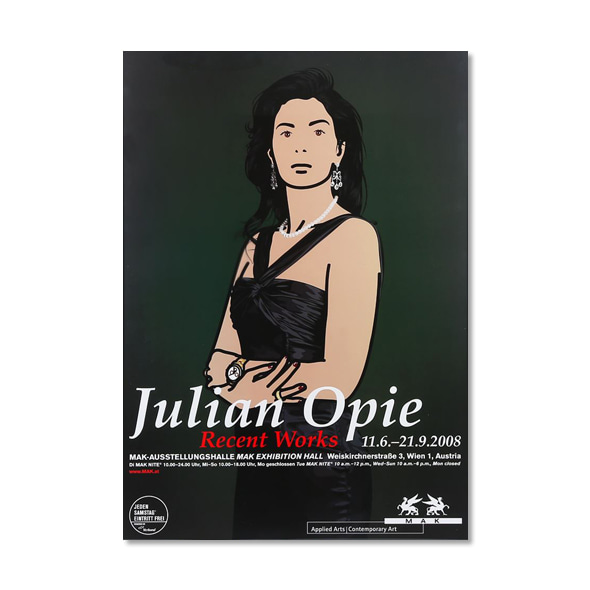 Julian Opie_Recent works 2008 ART EXHIBITION POSTER